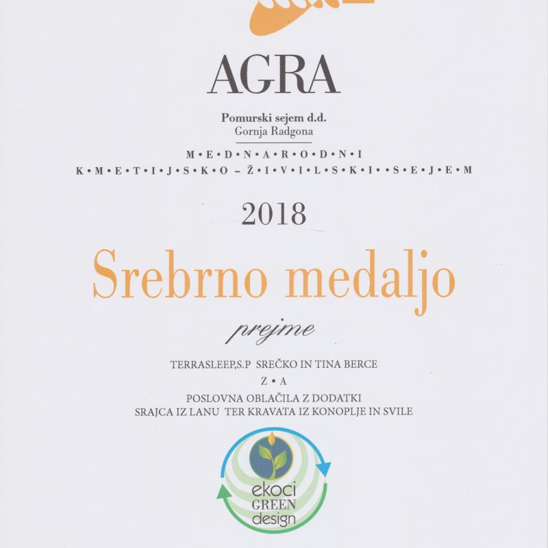 Srebrna medalja AGRA 2018 - poslovna oblačila z dodatki